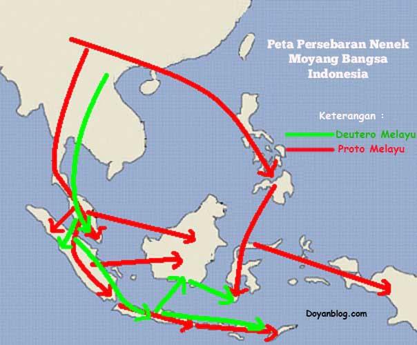 asal usul persebaran nenek moyang bangsa indonesia